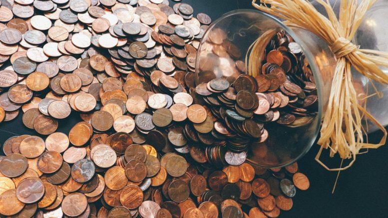 vysypane mince